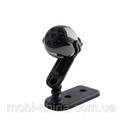 Мини камера-регистратор dv dvr SQ9 с ИК ночной подсветкой и датчиком движения, дата/время, фото 2