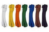 Пояса для карате, таеквондо и самбо (цвета в ассортименте)