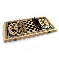 Набор 3в1 деревянный(шахматы,шашки,нарды)