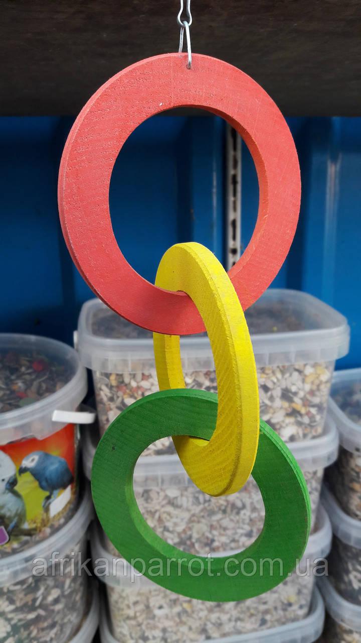 Игрушка для попугая дерево(светофор)