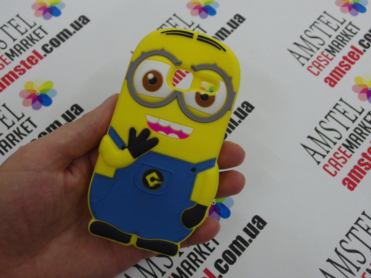 Объемный 3D силиконовый чехол для Samsung Galaxy J105 J1 mini Миньон