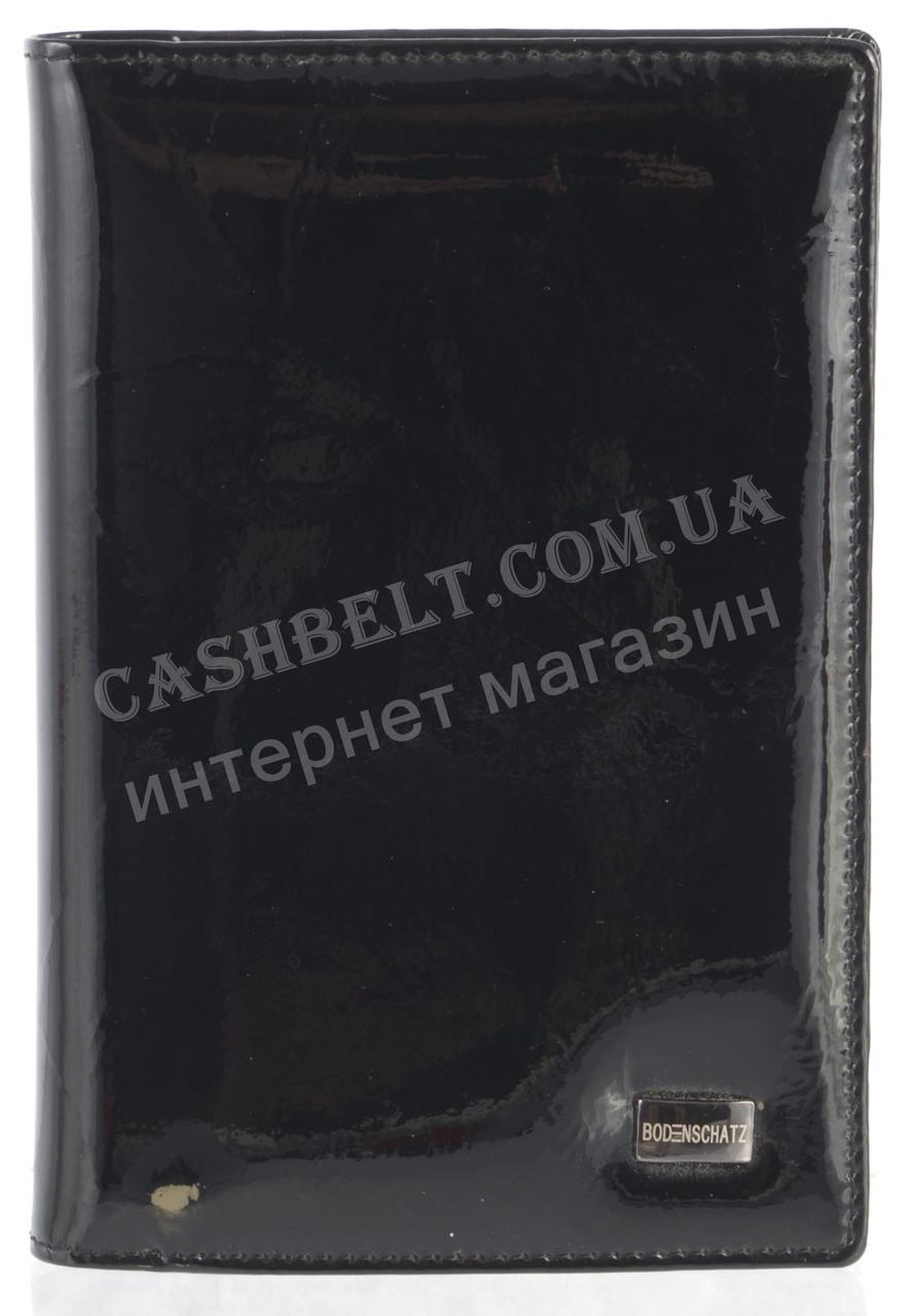 Стильная элитная лаковая кожаная документница высокого качества Bodenschatz art. 2106-A85 черный