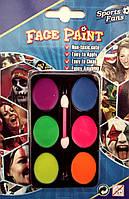 Грим для лица (краски 6 цветов)