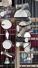Игрушка для попугая (дерево с корой)