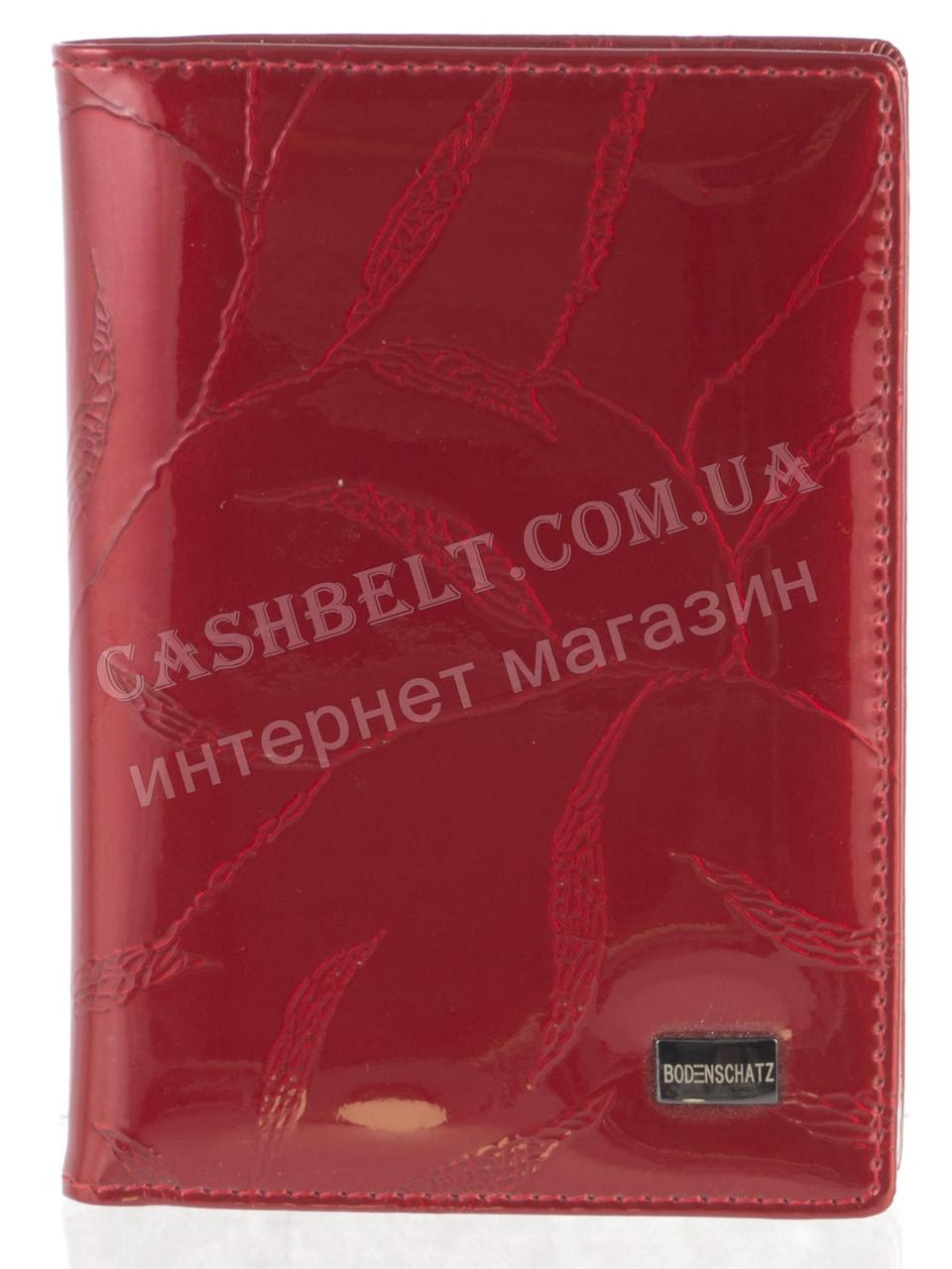 Стильная элитная лаковая кожаная документница высокого качества Bodenschatz art. 2104-B красный