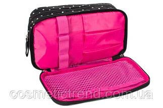 Косметичка женская двойная Reed Pink Surprise 7628 (Польша) 20*6.5*11 см, фото 2