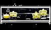 Экран под ванну «АРТ», Орхидея на черном, 140см.