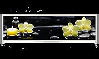 Экран под ванну «АРТ», Орхидея на черном, 160см.