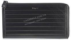 Кошелек барсетка мужской кожаный SALVATORE FERRAGAMO art. F7-7117А черный, гладкая кожа
