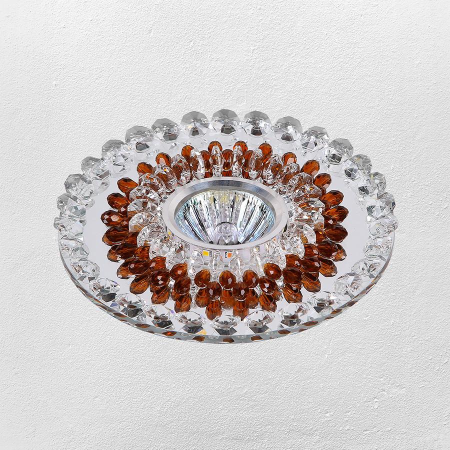 Точечный врезной светильник (модель 47-6675 коричневый)