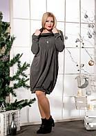 Теплое ангоровое платье - баллон 50-64 размеры