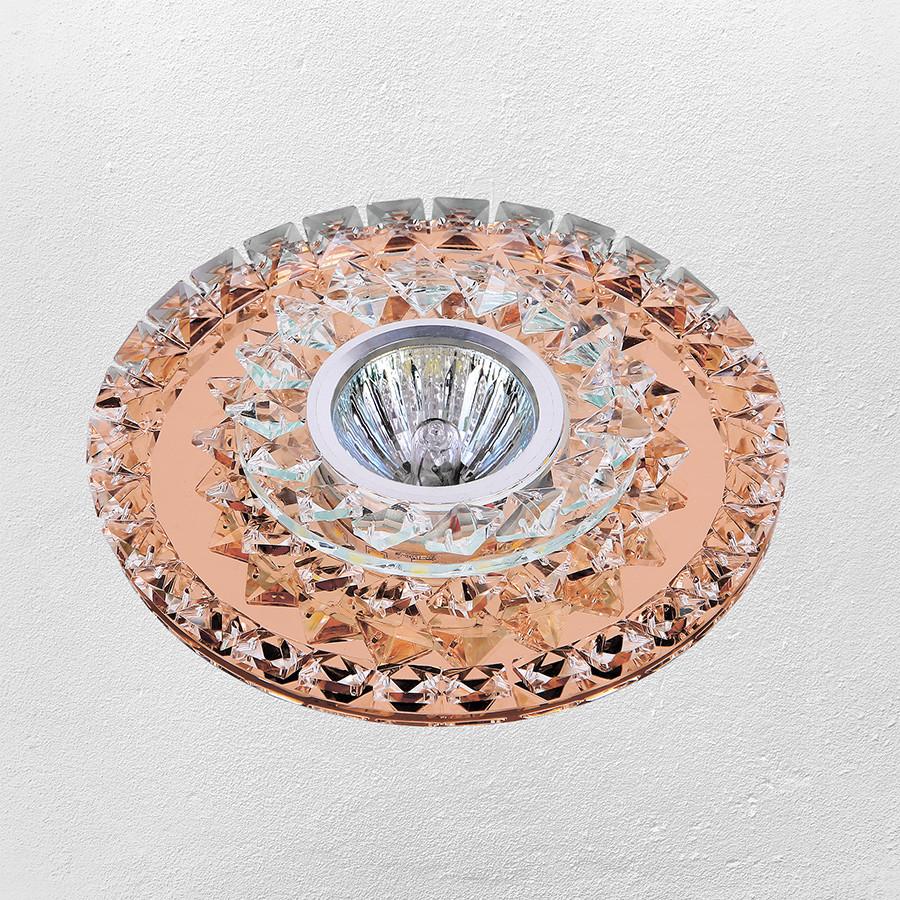 Точечный врезной светильник (модель 47-6678 коричневый)