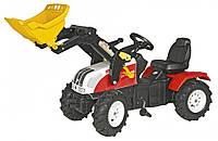 Rolly Toys Трактор на резиновых надувных колесах с ковшом Steyr CVT 6225 красный