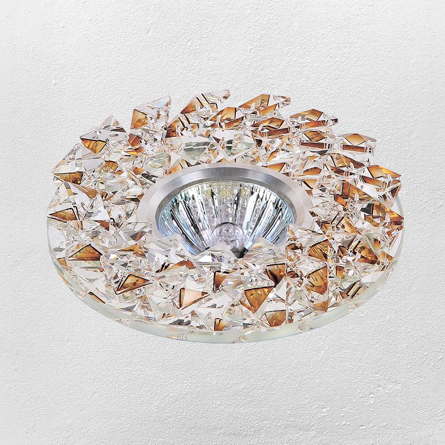 Точечный врезной светильник (модель 47-6691 золотой)