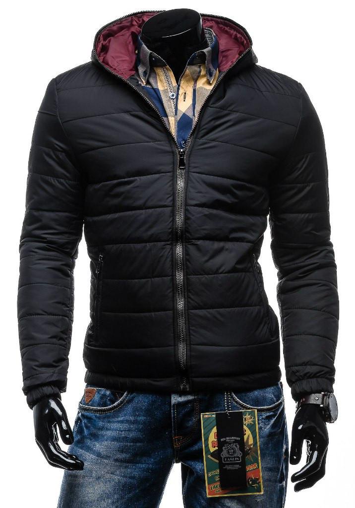 Чоловіча зимова куртка чорна