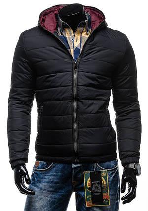 Чоловіча зимова куртка чорна, фото 2