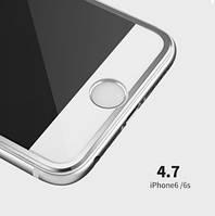 Защитные 3D стекла iphone 6/6s silver(рамка)