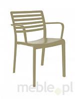 Кресло ЛАМА песочный с подлокотниками