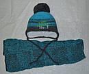 Комплект зимний Вaby brother №1: шапка с шарфом для новорожденного (AJS, Польша), фото 7