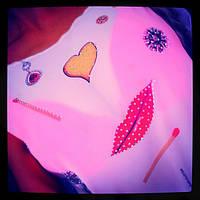 Стильная молодежная блузка с принтом
