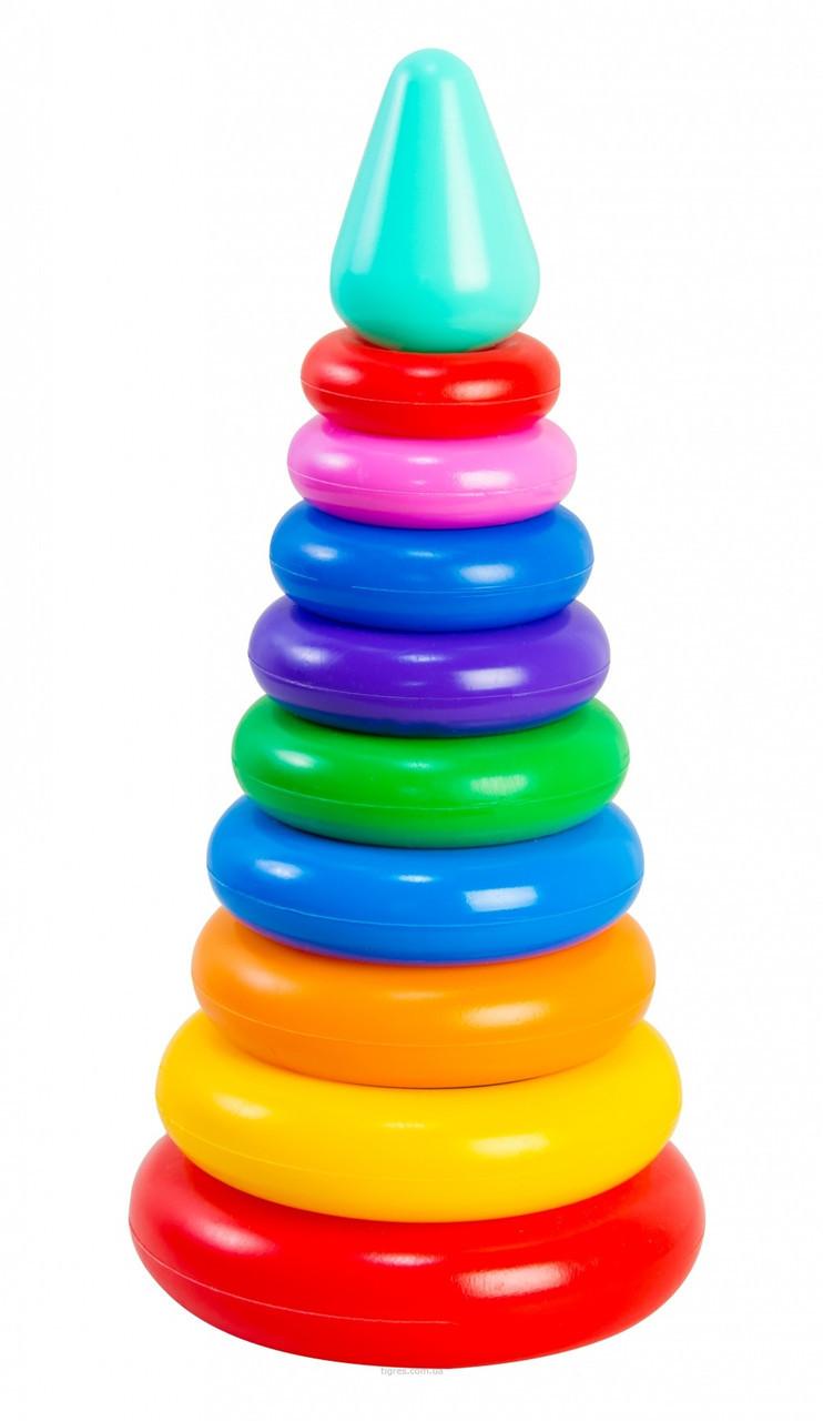 Развивающая игрушка Пирамидка ЛЮКС 11 элементов