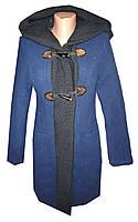 Пальто женское пуговицы на синтепоне с капюшоном