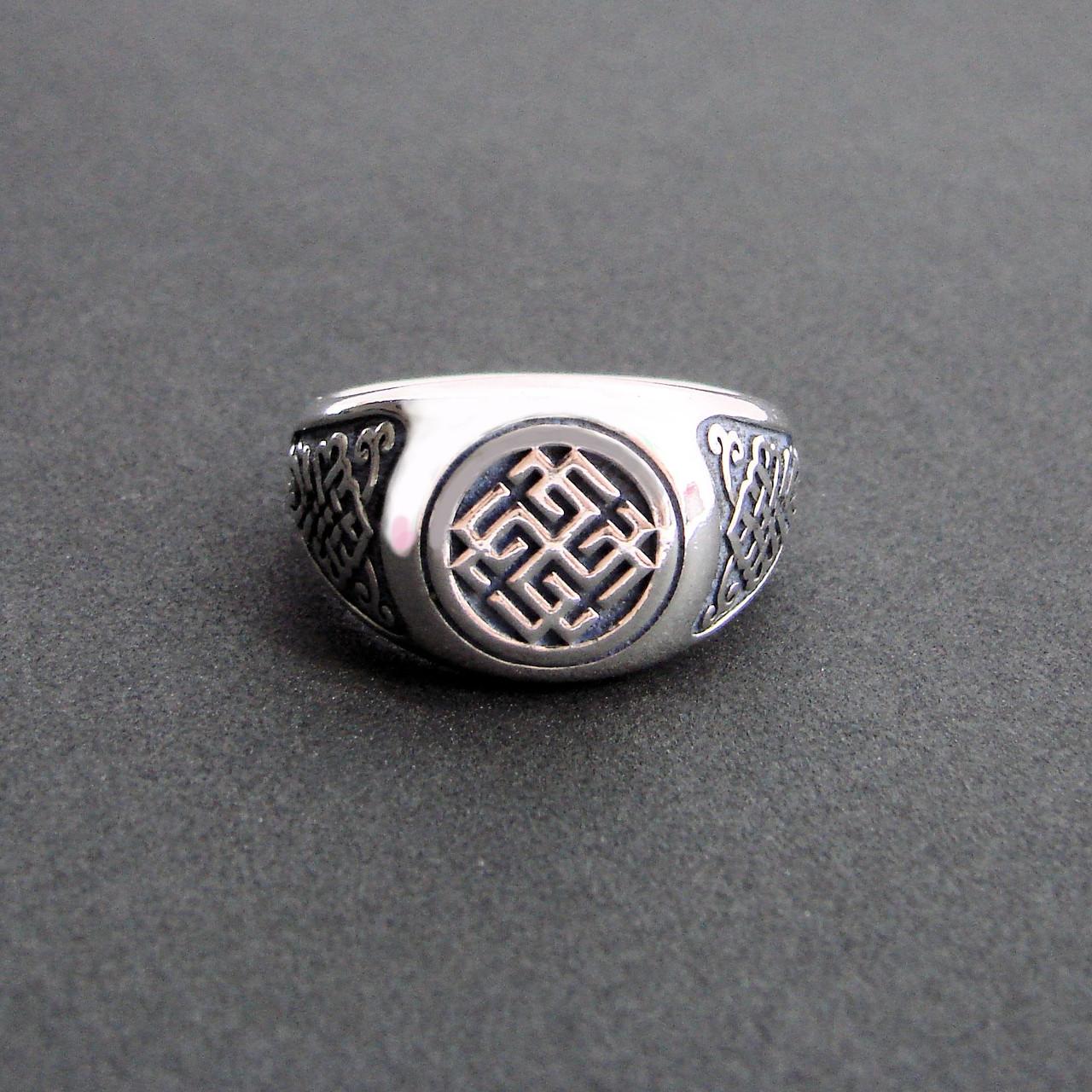 """Перстень """"Сварожич""""  из серебра 925 пробы"""