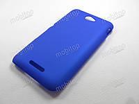 Пластиковый чехол Sony Xperia E4 / E4 Dual (синий)