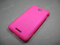 Пластиковый чехол Sony Xperia E4 / E4 Dual (розовый)