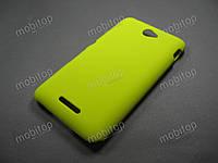 Пластиковый чехол Sony Xperia E4 / E4 Dual (желтый)