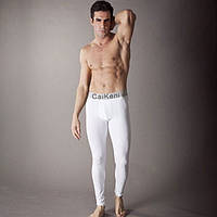 Термобелье подштанники Calvin Klein steel, белые, фото 1
