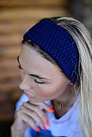 Женская вязаная повязка на уши разные цвета