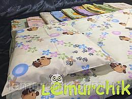 Постельный набор в детскую кроватку (3 предмета), цвет на выбор