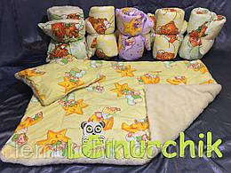 Набор зимнее детское одеяло + подушка на меху, цвет на выбор