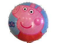 Воздушный шарик из фольги Свинка Пеппа диаметр 45 см.