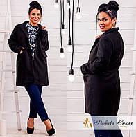 Пальто большого размера ткань: кашемир и итальянская подкладка ,цвет бежевый и черный нвин №163-450