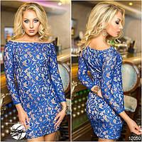 Нарядное ажурное мини платье в расцветках 336 (11120)