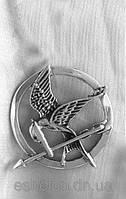 Брошка из серебра Сойка-Пересмешница,Голодные Игры