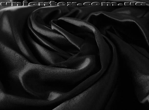 Креп-сатин черный, фото 2