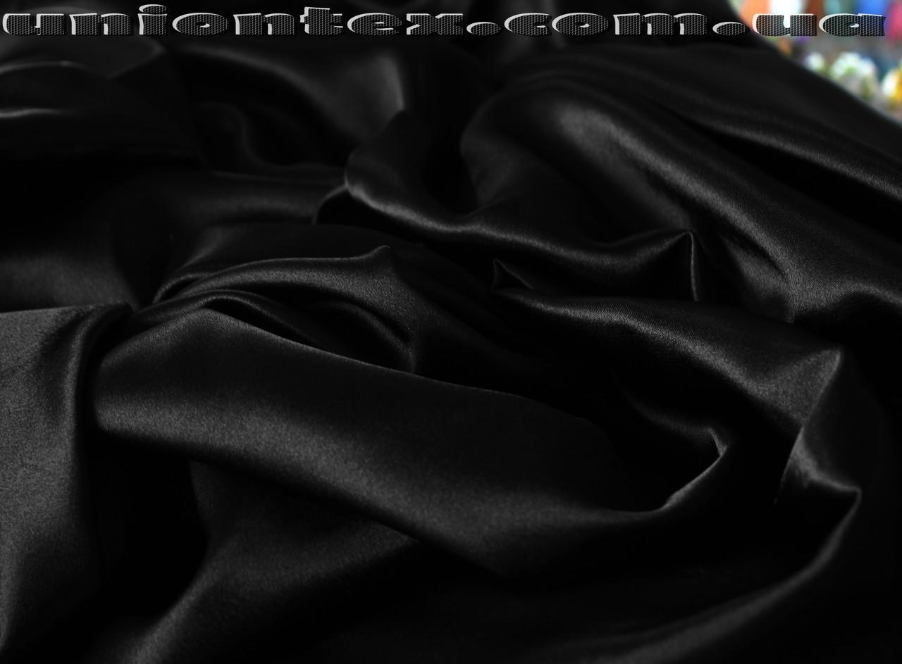 Креп-сатин черный