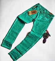 Зеленые джинсы для девочек