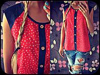 Красивая женская блузка Звездочки