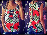 Шифоновая женская блуза гвоздики