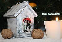 Декор новогодний  домик прованс