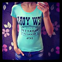 Стильная женская футболка из трикотажа