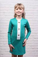 Нарядное подростковое платье Полина зелёное