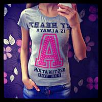 Модная женская футболка с надписями
