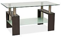 Стеклянный журнальный столик Lisa II