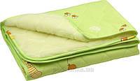 Детское одеяло Руно овчина-хлопок салатовое 105х140 см