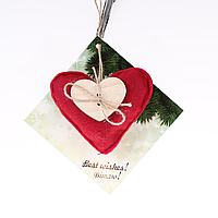 Фетровая игрушка красная Сердце